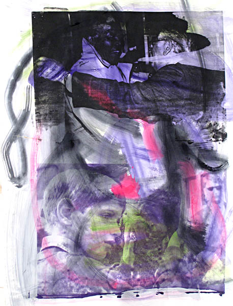 """Untitled VII"" , Silkscreen And Wash On Paper, 2010, 140 X 107cm"